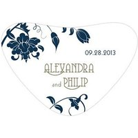 Floral Orchestra Heart Container Sticker