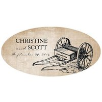 Rustic Country Large PVC sticker