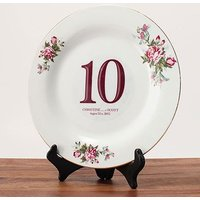 Classic Table Number Diecut Clear PVC Sticker