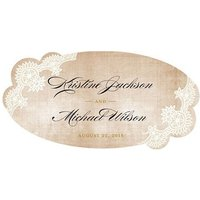 Vintage Lace Small PVC Sticker