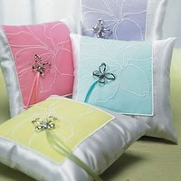 Butterfly Dreams Square Ring Cushion - Green