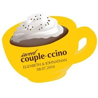 "Sweet ""Couple-ccino"" Shaped Sticker"
