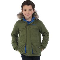 Boys Capton Parka Jacket Cypress Green