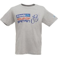 Tour of Britain 2014 Route Kids T-Shirt Grey