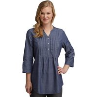 Goddess Smock Top Chambray