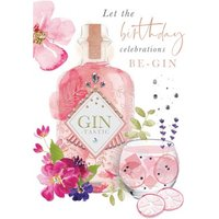 Let The Birthday Celebrations Be Gin Card, Giant Size By Moonpig
