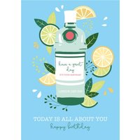 Illustrated Fruity Today Is All About You Card, Giant Size By Moonpig