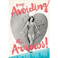 Avoid The Arrows Personalised Card, Standard Size By Moonpig