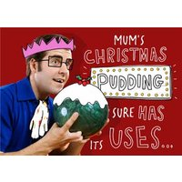 Mums Christmas Pudding Joke Card, Giant Size By Moonpig