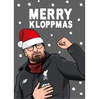 Merry Kloppmas Christmas Card, Large Size By Moonpig