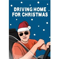 Driving Home For Christmas Dominic Cummings Card, Large Size By Moonpig