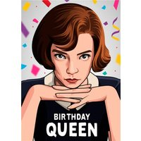 Birthday Queen Illustration Tv Chess Card, Giant Size By Moonpig