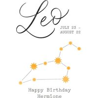 Leo Zodiac Sign Birthday Card, Giant Size By Moonpig