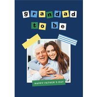Father's Day Photo Upload Card - Grandad To Be , Giant Size By Moonpig