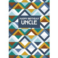 Uncle Geometric Birthday Card, Giant Size By Moonpig