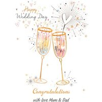 Happy Wedding Day - Congratulations Champagne, Standard Size By Moonpig