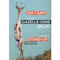 Thank You Card - Photo Humour Animal Antics Friend, Standard Size By Moonpig