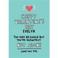 Angela Chick Single Friend Valentine's Palentine's Galentine's Card, Standard Size By Moonpig