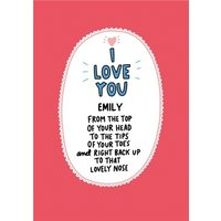 Angela Chick Modern Sentimental Verse Valentine's Card, Standard Size By Moonpig