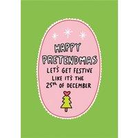 Angela Chick Happy Pretendmas Christmas Card