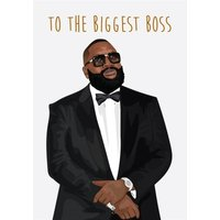 Anoela To The Biggest Boss Card, Large Size By Moonpig