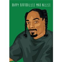 Anoela Rapper Happy Birthdizzle Mah Nizzle Birthday Card, Giant Size By Moonpig