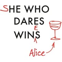 Personalised She Who Dares Wins And Wines Card, Square Card Size By Moonpig