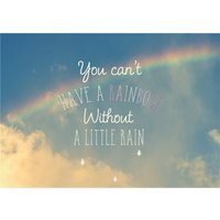 You Can't Have A Rainbow Without Little Rain Personalised Greetings Card, Giant Size By Moonpig