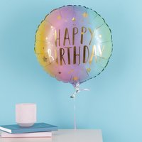 Happy Birthday Rainbow Balloon Gift Set By Moonpig - Delivery Available