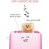 Naughty And Funny Toaster Valentine's Day Card , Standard Size By Moonpig