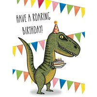 'Dinosaur Roaring Birthday Trex Cake Card, Standard Size By Moonpig