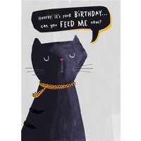Yay Its Your Birthday Can You Feed Me Now Card, Large Size By Moonpig