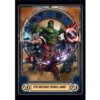 Marvel Avengers Birthday Card - The