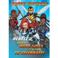 Marvel Avengers - Female Birthday Card, Large Size By Moonpig