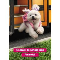 Back To Scool - It's School Time, Standard Size By Moonpig