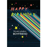 Axel To My Lovely Boyfriend Typographic Birthday Card, Standard Size By Moonpig