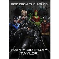 DC Batman Arkham Knight Characters Birthday Card, Large Size By Moonpig