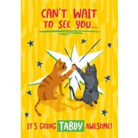 Funny Cant Wait To See You Cat Card, Giant Size By Moonpig