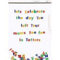 Rude Funny Lets Celebrate The Day You Left Your Mums Foo In Tatters Card, Standard Size By Moonpig
