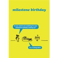 Milestone Birthday Card, Standard Size By Moonpig