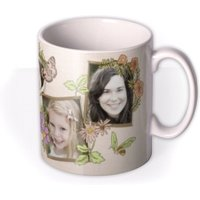Butterflies, Bees, And Flowers Photo Upload Mug by Moonpig, Gift Set - Delivery Available
