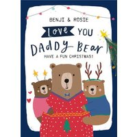 Love You Daddy Bear Christmas Card, Standard Size By Moonpig