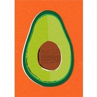 Graphic Avocado Postcard, Postcard Size By Moonpig