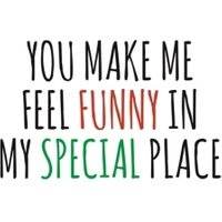 Typographical You Make Me Feel Funny Valentines Day Card, Large Size By Moonpig