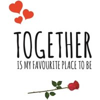 Together Is My Favourite Place To Be Valentines Day Card, Standard Size By Moonpig