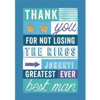 Greatest Ever Best Man Thank You Card , Standard Size By Moonpig