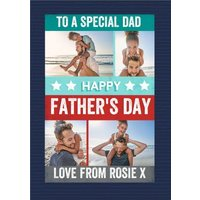 To A Special Dad Photo Upload Father's Day Card, Giant Size By Moonpig