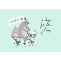 Mother's Day Card - Gran Teddy Bears, Standard Size By Moonpig