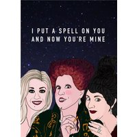 I Put A Spell On You And Now Your're Mine Spoof Card, Large Size By Moonpig