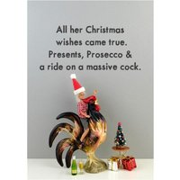 Funny Dolls Rude Christmas Wishes Card, Large Size By Moonpig
